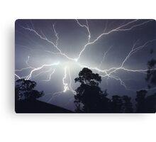 Sydney Lightning Explosion ! Canvas Print