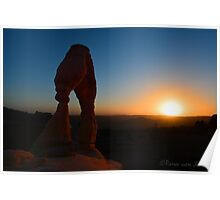 Sunset Delicate Arch Photographic Print Poster