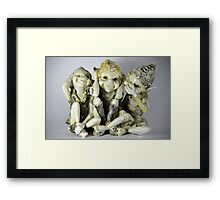 Elves - Hear, See, Speak No Evil Framed Print