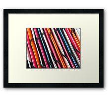 DAY 229 - CRAZY FOR STRIPES Framed Print