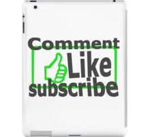 Comment, like, subscribe, iPad Case/Skin