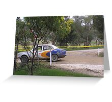 MAzda Rx2 cappela adelaide rally 2008  Greeting Card