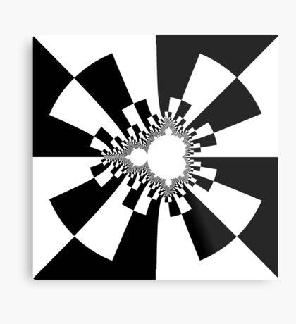 Mandelbrot XV - Black Metal Print