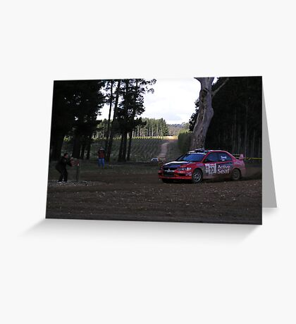 Mitsubishi LAncer Evo Greeting Card