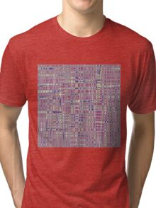 Purple Geometry Tri-blend T-Shirt