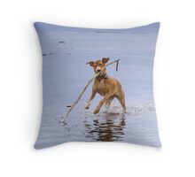 Isabella Spearfishing Throw Pillow