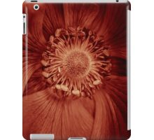 Anemone dipped in Marsala in honor of Pantone's 2015 color of the year iPad Case/Skin