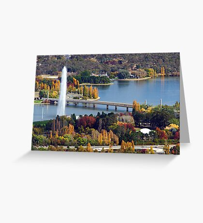 Lake Burley Griffin - Canberra Greeting Card