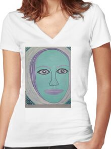 PRETTY AS A CEMETERY BELL Women's Fitted V-Neck T-Shirt