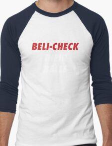 BELI-CHECK THEIR BALLS (New England)  Men's Baseball ¾ T-Shirt