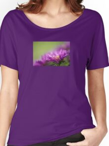 Dewy Purple Asters Women's Relaxed Fit T-Shirt