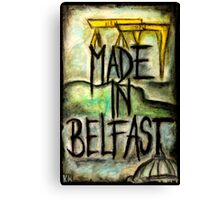 Made in Belfast oil pastel Canvas Print
