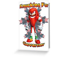 Knuckles Greeting Card