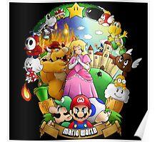 Composition - Mario world Poster