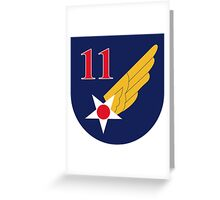 11th Air Force  WWII  USAAF Greeting Card