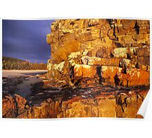 Nadgee Beach Rocks Poster