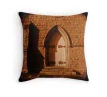 Cathedral Door Throw Pillow