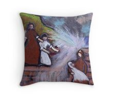 Keep away from the water Throw Pillow