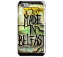 Made in Belfast oil pastel iPhone Case/Skin