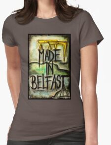 Made in Belfast oil pastel Womens Fitted T-Shirt