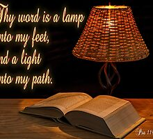 Psa 119:105  Thy word is a lamp by tshirtchristian