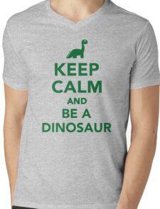 Keep calm and be a dinosaur Mens V-Neck T-Shirt
