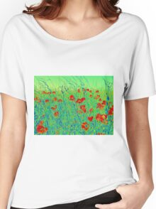 The Poppy Field Women's Relaxed Fit T-Shirt