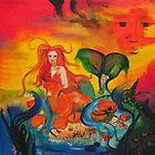 Mermaid Painting by Chris Caples