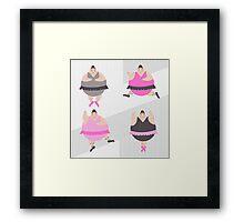 Ballerinas in pose Framed Print