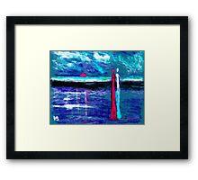 Beach lovers Framed Print