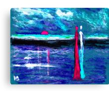 Beach lovers Canvas Print