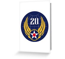 20th Air Force  WWII  USAAF Greeting Card