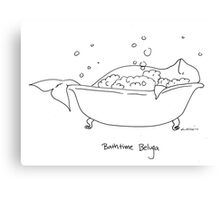 Bathtime Beluga Canvas Print