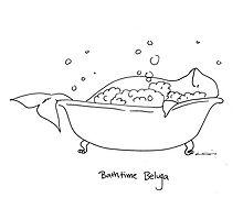 Bathtime Beluga Photographic Print