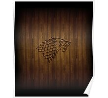 Wood Wolf Poster