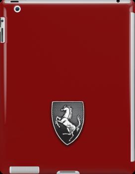 Team Ferrari Horse by Randall Robinson