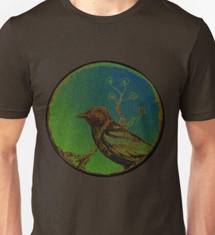 Sakura Crow TrickyMicky Retro Asian Bird Unisex T-Shirt