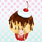 Doll faced dearies, Carmen caramel chocolate sundae by Bantambb