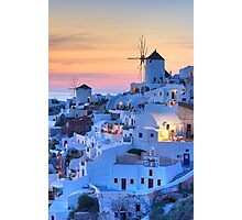 Oia Santorini sunset Photographic Print