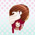 Doll faced dearies, Jemma Jelly filled chocolate donut by Bantambb