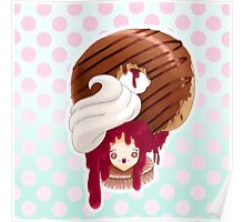 Doll faced dearies, Jemma Jelly filled chocolate donut Poster