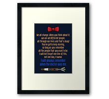 Eleven goodbye Framed Print