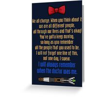 Eleven goodbye Greeting Card