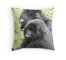 Mountain Gorillas II Throw Pillow