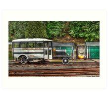 The Rail Bus Art Print