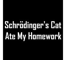 Schrodinger's Cat Ate My Homework Photographic Print