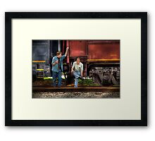Shoot'in the Breeze Framed Print