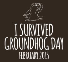 Amazing 'I survived Groundhog Day February 2015' T-shirts, Hoodies, Accessories and Gifts by Albany Retro