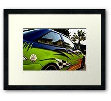 Modified sports car  (2008) Framed Print