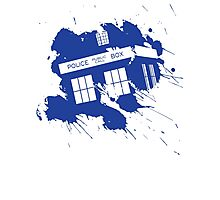Splash tardis Photographic Print